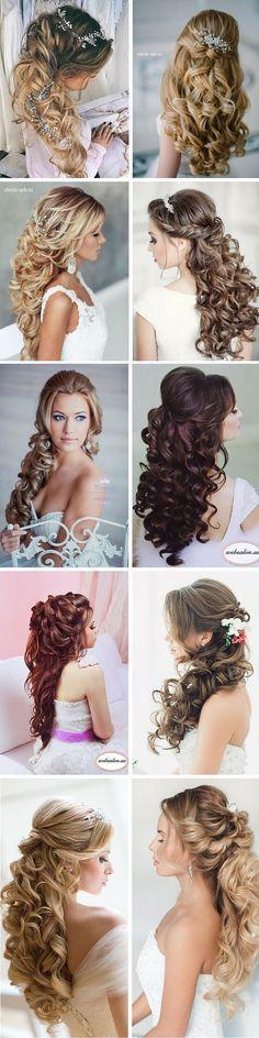 50+ Stunning Half Up Half Down Wedding Hairstyles #wedding #hairstyle #bride