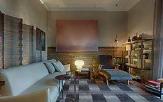 Décor do dia: sala de estar clean e rosa