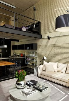 I like the loft look. The upstairs can be a bar area or a cozy quite area for studying, business, like a coffee shop