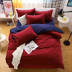 Reactive Printing Bedding Set Super Soft Cotton Duvet Cover Flat Sheet Pillowcase Comforter Bed Set Twin Full Queen King Size #clothing,#shoes,#jewelry,#women,#men,#hats,#watches,#belts,#fashion,#style