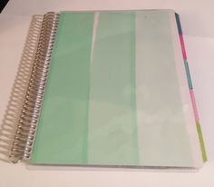 Mint Shaded Cover for your Erin Condren, Plum Paper, or LimeLife Planner or EC Notebook by PlanningwithKatie on Etsy