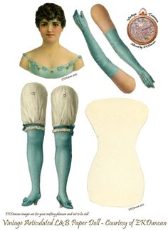 EKDuncan - My Fanciful Muse: My Latest Vintage L Paper Doll Purchase is also my Smallest Victorian Paper Dolls, Vintage Paper Dolls, Antique Dolls, Victorian Dollhouse, Modern Dollhouse, Paper Puppets, Paper Toys, Paper Art, Paper Crafts