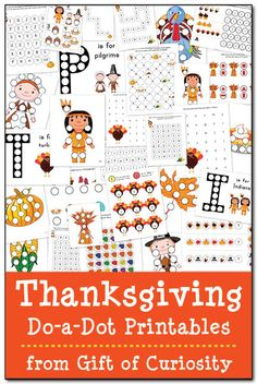 FREE Thanksgiving Do-a-Dot Printables: 29 pages of Thanksgiving do-a-dot…