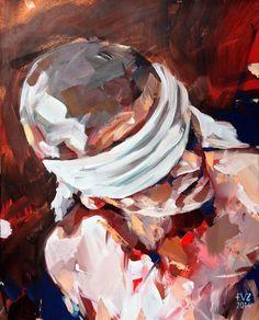 'Blinded' by Floris van Zyl - oil on canvas portrait.