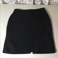 Classic black pencil skirt Jones NY skirt, back zip.  Fully lined, worn only a few times. Jones New York Skirts Pencil