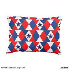 Patriotic Patterns Outdoor Pillow