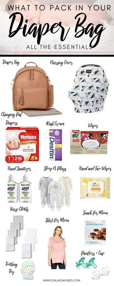 Wondering what to pack in your diaper bag? This is a complete list of diaper bag essentials for the first six months of baby& life. Great tips on what you actually need to pack in your diaper bag! Diaper Bag Checklist, Diaper Bag Essentials, Baby Checklist, Newborn Essentials, Baby Massage, Baby Diaper Bags, Diaper Bag Backpack, Diaper Bag List, Best Diaper Bag