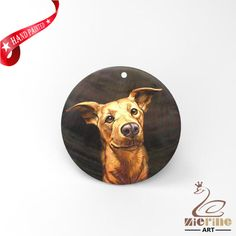 HAND PAINTED DOG SHELL JEWELRY NECKLACE PENDANT ZP30 01230 #ZL #PENDANT