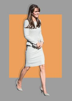 The Duchess of Cambridge arrives for a visit to the Rehabilitation of Addicted Prisoners Trust at HMP Send in Woking, United Kingdom. Photo: Silver is the new orange is the new black! For a visit to prison, the Duchess of Cambridge didn't wear a striped or bright hued jumpsuit (although that would certainly be a fashion statement). From The Fold, a London-based high-end workwear line for women, the Eaton Dress retails for£365 or $554.