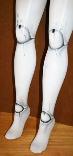 broken doll ball joint tights $30.00 super cool for halloween!