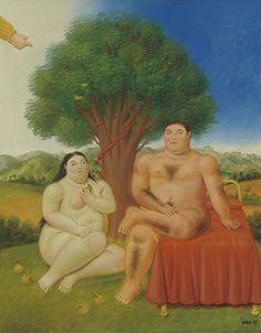 FERNANDO BOTERO (1932)   Adam and Eve - 1993.