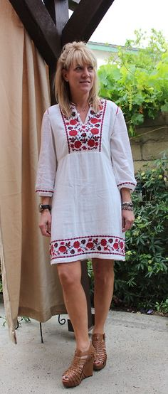 Day 5! Dress A Day In The Month Of May!   Happy Cinco de Mayo! Celebrating the day in an embroidered dress by Lucky Brands.I love the comfortable simplicity of this dress! And if I have too many margaritas out celebrating tonight it might even be comfy enough to sleep in!! :-)