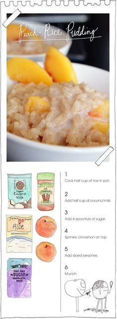 The Vegan Stoner's Peach-Rice Pudding - Breakfast next week. Like a goddamn young professional.