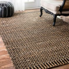 Shop for nuLOOM Handmade Diamond Trellis Jute Black Rug (7'6 x 9'6). Get free shipping at Overstock.com - Your Online Home Decor Outlet Store! Get 5% in rewards with Club O!