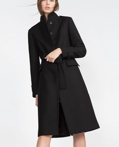 Image 6 of HIGH COLLAR COAT from Zara