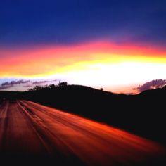 The sunset!