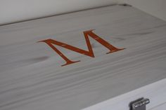 An orange monogram...splendid!
