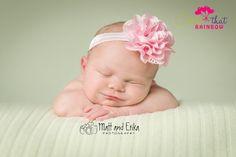 Pink headband baby PINK Baby Girl Headband by catchthatrainbow