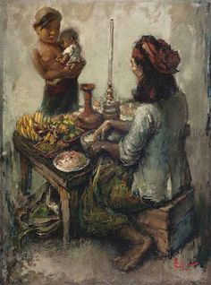 Balinese Rojak Seller by Lee Man Fong on artnet × por imagen balinese rojak seller by lee man fong Bali Painting, Figure Painting, Illustration Art Drawing, Art Drawings, Composition Painting, Indonesian Art, Dutch Painters, Fashion Painting, Driftwood Art