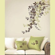 Id Hand Paint This For Less Of Regular Pattern To Make The Tree DIY Wall DecorWall Stencil