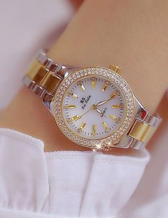 Women's Wrist Watch Diamond Watch Gold Watch Japanese Quartz Stainless Steel Gold 30 m Creative New Design Punk Analog Ladies Luxury Fashion – Gold Silver Gold / Silver / White Two Years Battery Life 2019 – Rs. Stylish Watches For Girls, Trendy Watches, Gold Watches Women, Watches For Men, Ladies Watches, Wrist Watches, Women's Watches, Girl Watches, Female Watches