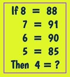 Math logic puzzle with answer