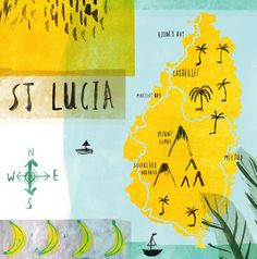 st. lucia by laura bird  - St. Lucia, one of my happy places.