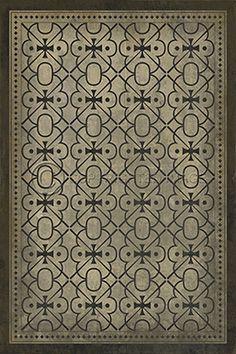 pattern 21 all in the golden afternoon - vintage vinyl floor