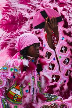 Mardi Gras Indians on Super Sunday. Photo copyright Roy Guste 2012