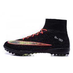 5789999ba Baratas Nike Mercurial Superfly CR7 TF Negro Naranja Hombre Botas De Futbol