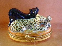 PANTHERS AND CUB Limoges Box