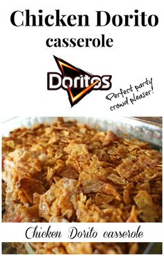 chicken #dorito casserole.  Perfect party crowd pleaser. I just made this for New Year's eve and it was a HUGE hit, of course kids love it too!