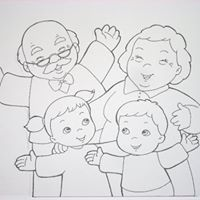 Preschool Learning Activities, Autumn Activities, Preschool Activities, Coloring Sheets For Kids, Animal Coloring Pages, Grandma Cards, Family Theme, Grands Parents, Doodle Designs