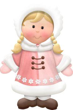 WINTER LITTLE GIRL CLIP ART
