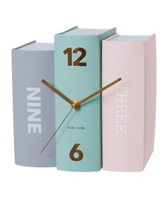 #Pastel Book Table Clock