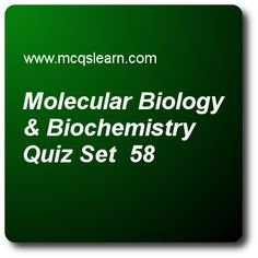 Ecology Quiz - MCQs Questions and Answers - Online A level Biology Quiz 58 Quiz With Answers, Quiz Questions And Answers, Question And Answer, This Or That Questions, A Level Biology, Nucleic Acid, Certificates Online, Molecular Biology, Certificate Programs