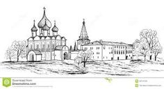Image result for moscow drawing City Drawing, Taj Mahal, Urban, Architecture, Drawings, Building, Painting, Travel, Image
