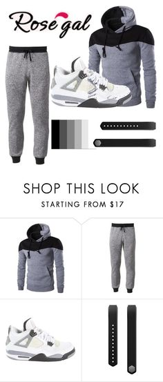 """""""Colour coded"""" by binghamabz ❤ liked on Polyvore featuring Hollywood the Jean People, Jordan Brand, Fitbit, men's fashion and menswear"""