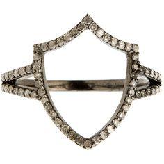 Jade Jagger Renaissance Shield Ring (21.705 RUB) via Polyvore featuring jewelry, rings, jade jagger, jade jagger jewelry, jade jagger jewellery и renaissance jewelry