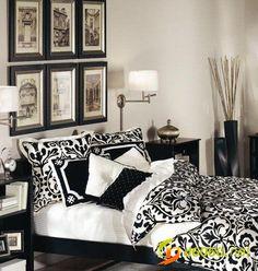 Black and white bedroom design