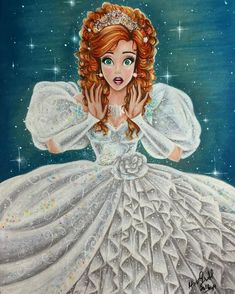 Giselle - Disney Princess Drawings by Max Stephen