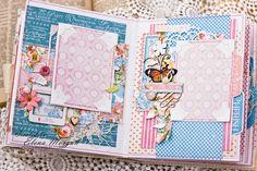 Elena Morgun: Graphic45 mini album / mini-album voor meisjes