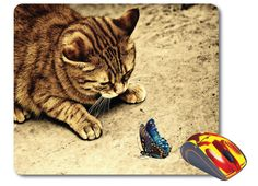 Cat Mouse mat funny pet gift Computer Mouse Pad Cat mousepad Cool Mouse pad cat lover gift funny cat lady gift desk accessories Office gifts