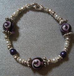 Purple Swirl Medical Bracelet
