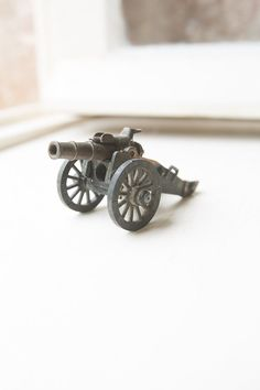 Vintage metal pencil sharpener - Miniature antique military war cannon die cast toy -  I already own this one.