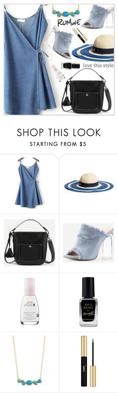 """Romwe4"" by adelisa56 ❤ liked on Polyvore featuring Draper James, Barry M, Gurhan and Yves Saint Laurent"