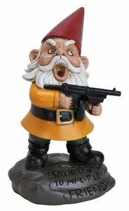 Scarface Lawn Gnome - Click to enlarge