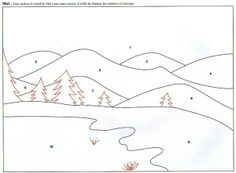 Winter paradise pattern to embroidery or fabric scrap