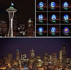Seattle tonight before championship game tomorrow.