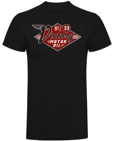 UK's largest range of Hot Rod, Biker, Kustom Kulture clothing and accessories Victorious, Motorcycle, Hot, Cotton, Mens Tops, T Shirt, Clothes, Black, Fashion